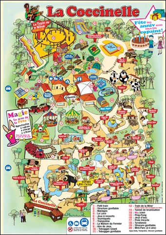 Plan du parc animalier la Coccinelle
