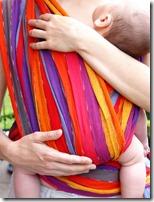 Echarpe de portage colorée