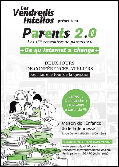 Affiche Vendredis Intellos - parents 2.0 2012
