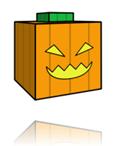 patron paper toys halloween - citrouille