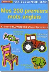 Carte d'apprentissage Chantecler - 200 premiers mots anglais