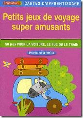 Carte d'apprentissage Chantecler - Petits jeux de voyage super amusants