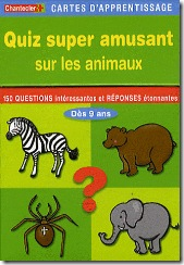 Carte d'apprentissage Chantecler - Quiz super amusant sur les animaux