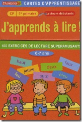 Carte d'apprentissage Chantecler - j'apprend a lire CP