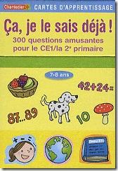 Carte d'apprentissage Chantecler - je le sais deja CE1