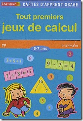 Carte d'apprentissage Chantecler - jeux de calcul CP