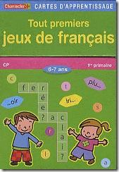 Carte d'apprentissage Chantecler - jeux de francais CP