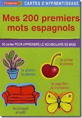 Carte d'apprentissage Chantecler - premiers mots espagnols
