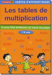 Carte d'apprentissage Chantecler - tables de multiplication CE1