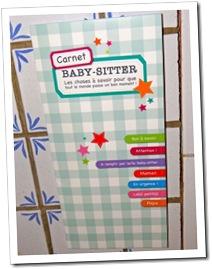 produits innovants pour parents - carnet baby sitter 1