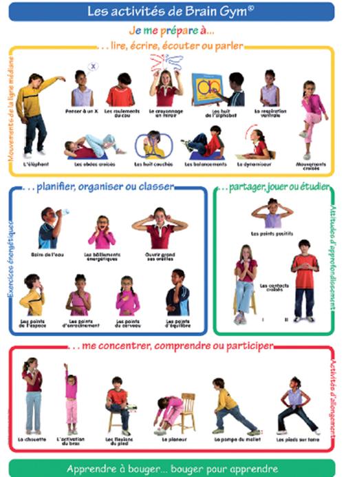 Education kinesthésique, Brain Gym et apprentissages des ...
