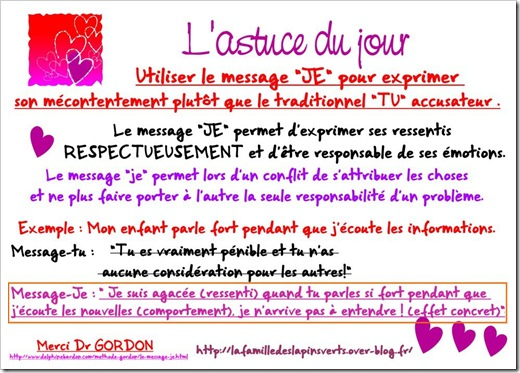 Message JE thomas Gordon