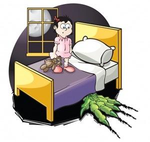 peurs enfants monstres sous lit