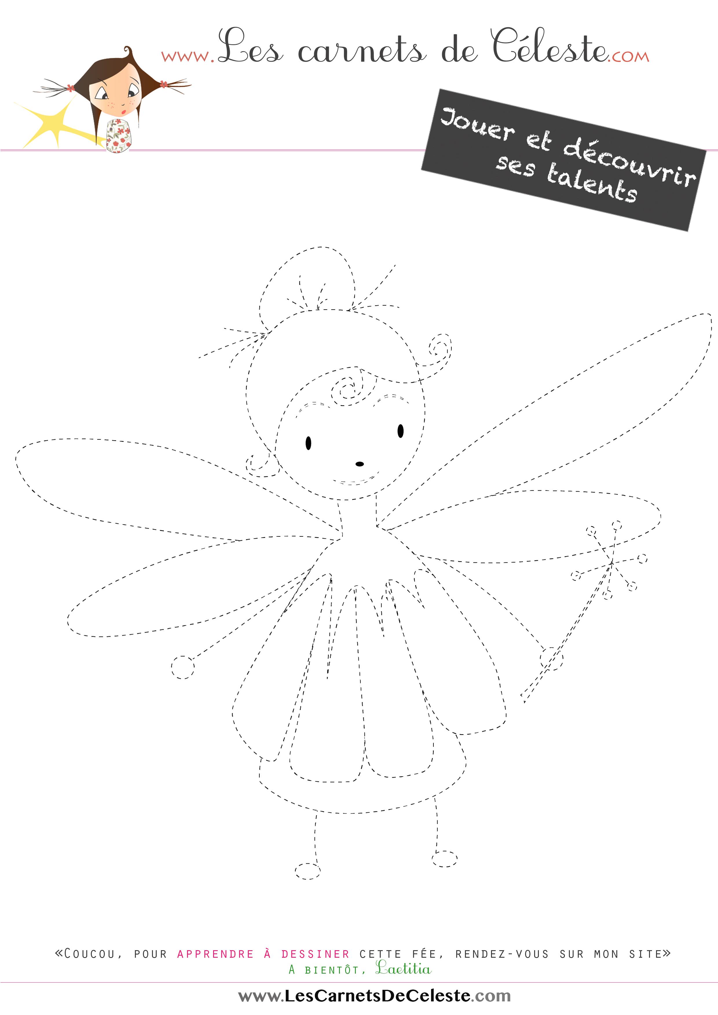 pointillés - fée fleur
