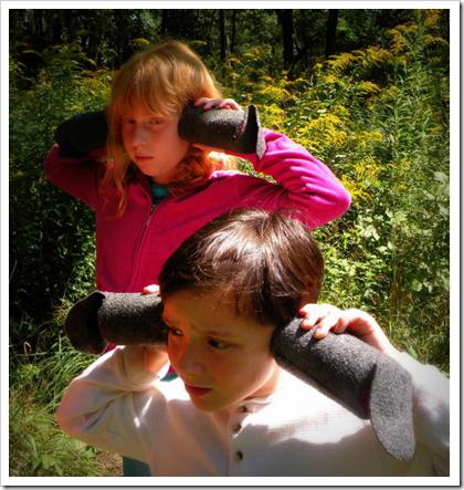 jeu enfant dans la nature