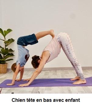 Reduire le stress chez l'enfant par le yoga - Chien tête en bas